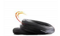 CABLE SIF-GL SILICONE TRESSE 0.5 NOIR CUIVRE NU
