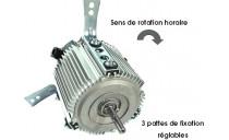 Moteur de ventilation 3 fixations réglables