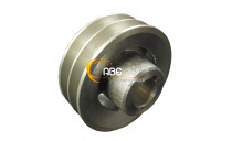2 GROOVE PULLEY - DIAM 98 / BORE 24
